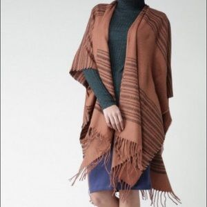 Rust with Stripes Poncho